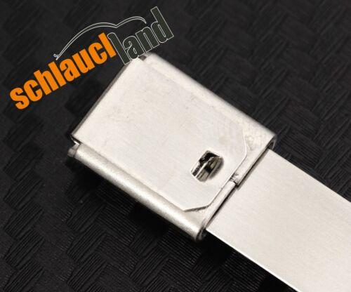100x Kabelbinder Edelstahl 7,9 x 300 mm *** 1.4301 V2A rostfrei Schlauchbinder