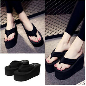 Summer-Anti-slip-flip-flops-Women-Wedge-Heel-Sandal-Platform-Shoes-US