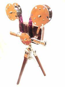 Home Decor Vintage Replica Camera Projector Tripod Stand Vintage Nautical