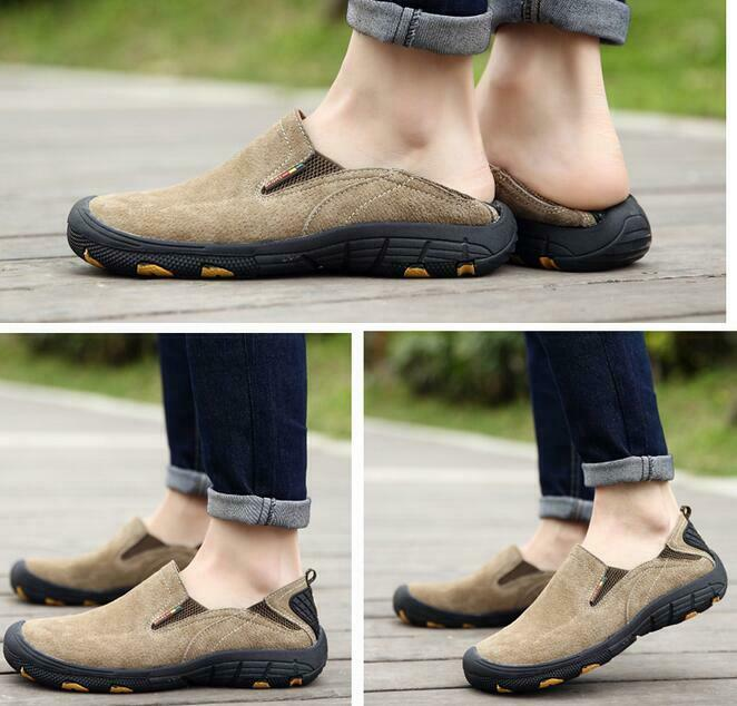 Mens Outdoor Flat Slip On Sneakers Driving Moccasin Loafers Leisure Hiking shoes