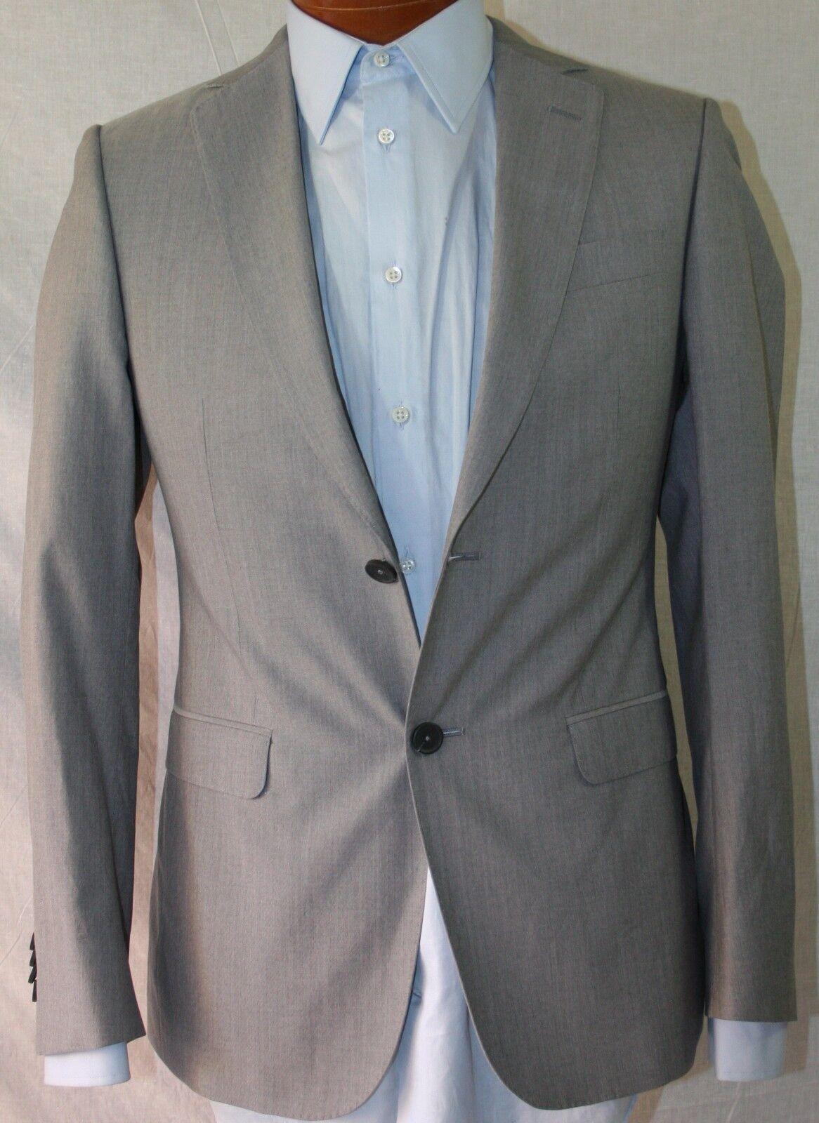 New Z Zegna Grau Cotton Blend 2-BT Suit 36R/W31 EU46R