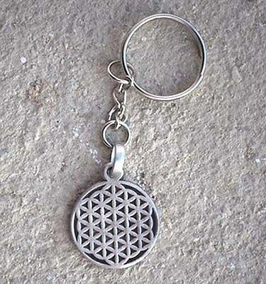 Seed Flower of life Pagan hexagon sacred geometry CROP CIRCLES Pewter Pendant