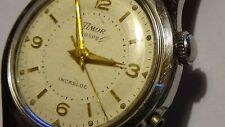 Vintage Timor Voxor Alarm Incabloc 33mm Mens SS watch for PARTS