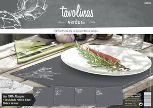 Tavolinas-Papier-Tischset-Verdura-schiefer-24-Blatt-individuell-beschriftbar