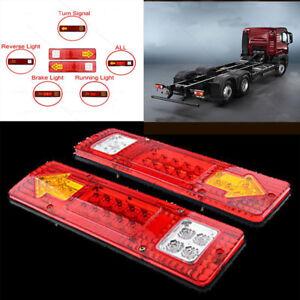 2x-12V-1-5W-19-LED-Luz-de-la-Cola-Brillante-Trailer-Camion-Freno-Inverso-Giro