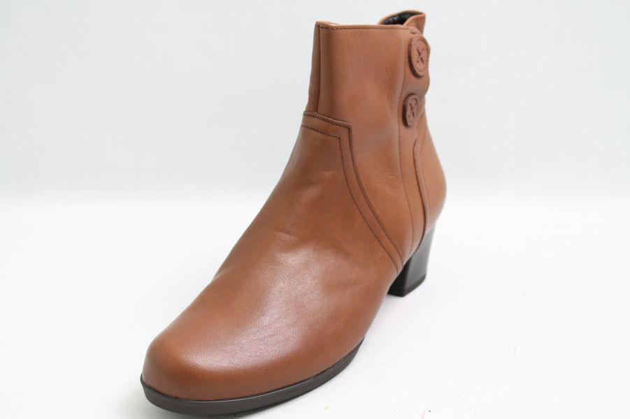Grandes zapatos con descuento Gabor Stiefeletten braun Leder Applikation Schuhweite G