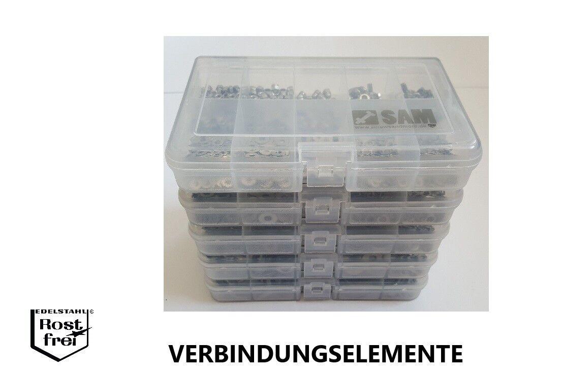 Scheiben/- Mutternsortiment/Set DIN 934/985/1587/315/125/9021.. Edelstahl A2 V2A