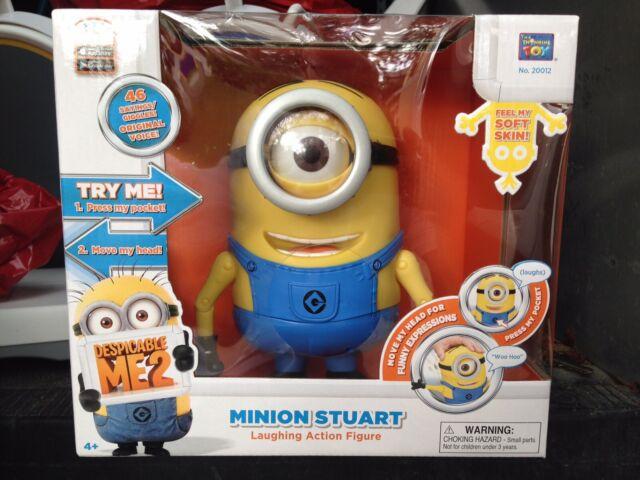 Despicable Me 2 Minion Stuart Laughing Action Figure NEW