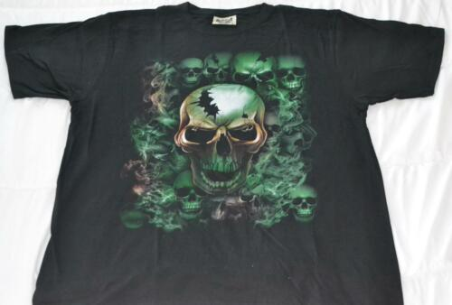 MENS GRAPHIC T-SHIRT 3D PRINT SKULL SMOKE GREEN 420 SIZES L-XXL FREE DELIVERY