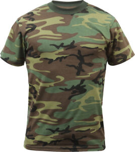 Mens-Woodland-Camo-Tactical-T-Shirt-Military-Army-Green-Camouflage-Short-Sleeve