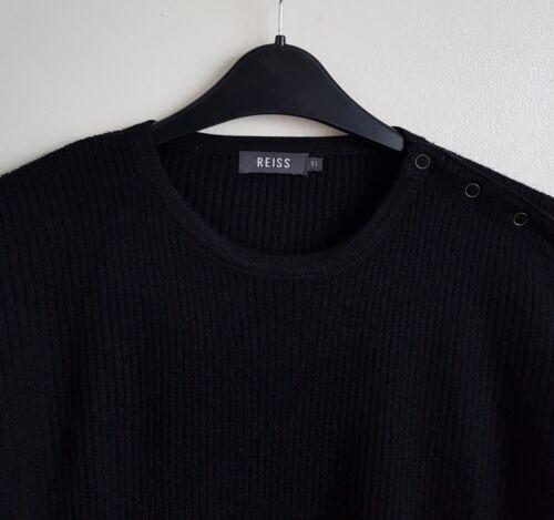 Jumper 120 Reiss Size Rrp Mens 50 Xl £ Blend Black Wool xawTw4qU