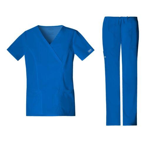 Cherokee Scrubs Set CORE STRETCH Mock Wrap Top /& Cargo Pants 4728//4044 Tall