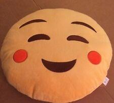 "EvZ Emoji Smile With Cheeks Pillow 14"""