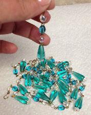 Old  Vintage Czech Crystal lamp chandelier prisms 20 Gorgeous strands