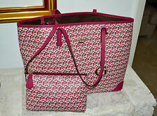 "NWT $128 GUESS G CUBE Tote Bag Large E/W Tote Bag ""Crimson"" Burgundy"