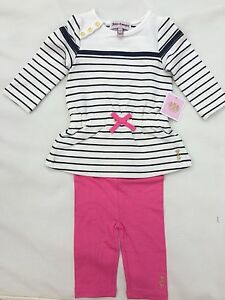 Juicy-Couture-Baby-Girls-Striped-2-Pc-Leggings-Set-Size-12-18-M
