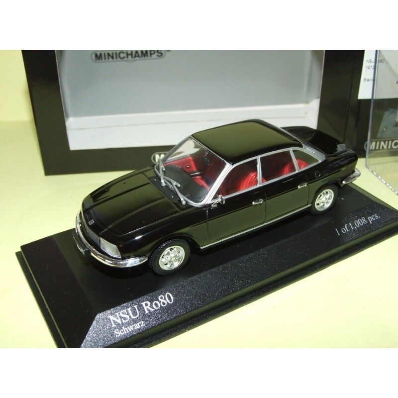 NSU Ro 80 1972 black MINICHAMPS 1 43