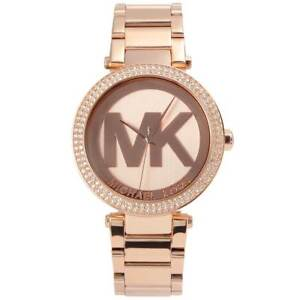 4f5713ea61c6 NEW Michael Kors MK5865 Ladies  Parker in Dial MK Logo Rose Gold ...