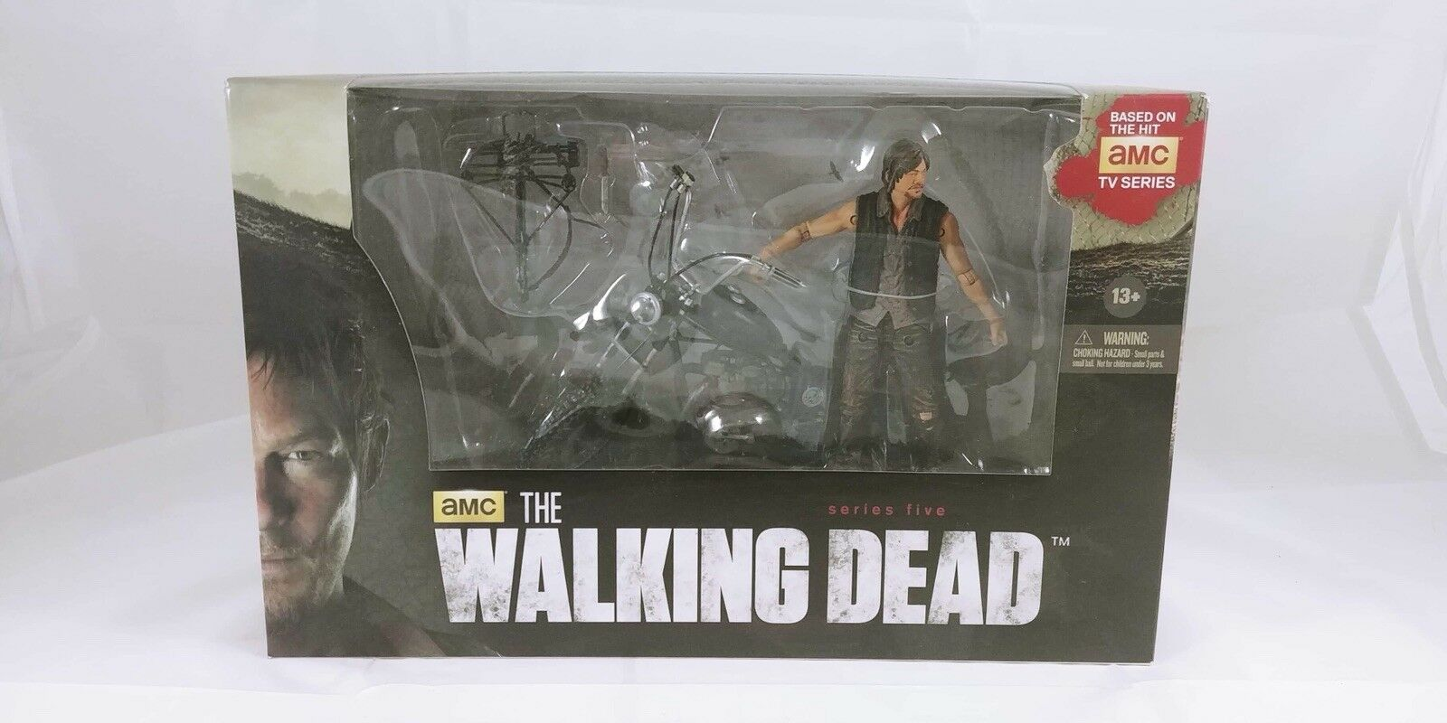 "The Walking Dead Daryl Dixon With Chopper Motorcycle 3.75"" AMC TV Action Figure"