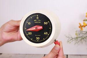 Jantar-Timer-Chronometer-Vintage-50-Minutes-Kitchen-Timer-USSR-1960s