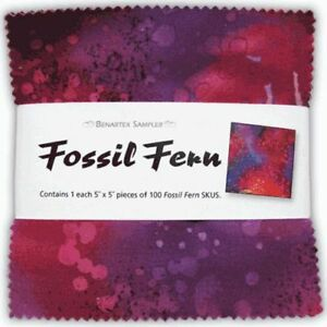 Fossil Fern 5 Squares Package of 100