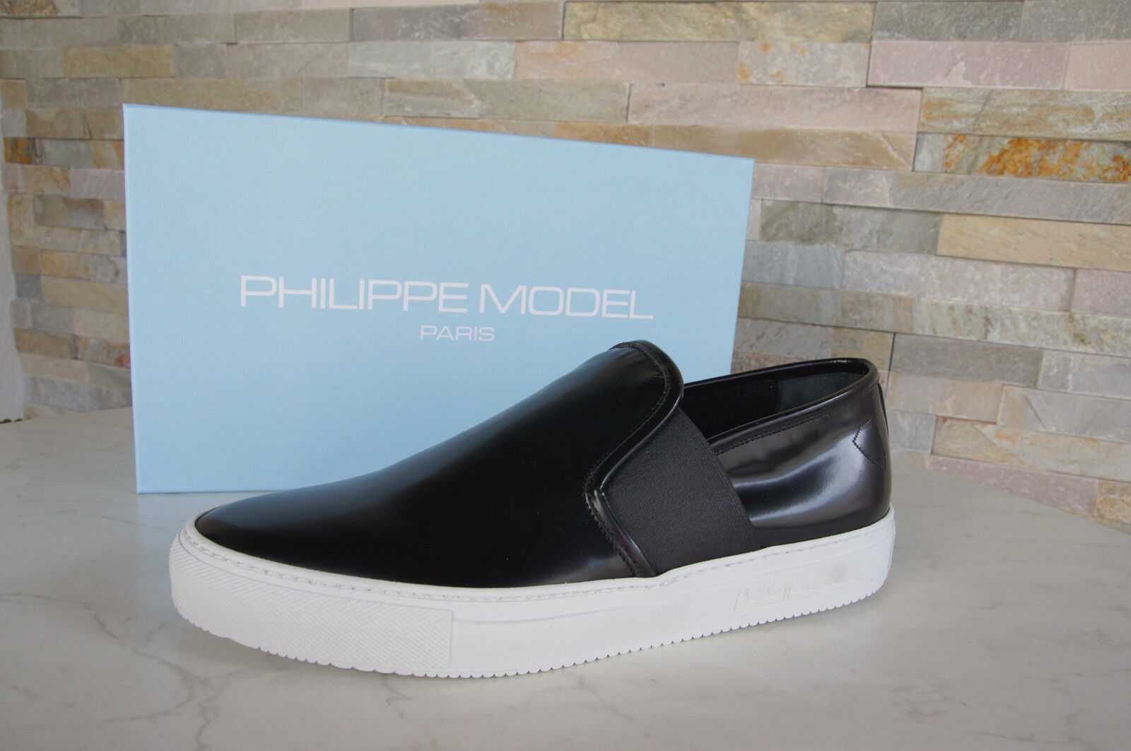 Philippe Model Paris Gr 42 Slipper Slip-On Scarpe Basse Nero Nuovo