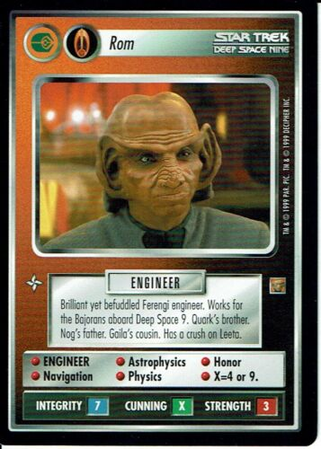 STAR TREK CCG RULES OF ACQUISITION RARE CARD ROM