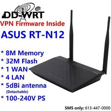 Asus RT-N12 D1 Wireless N Gigabit Router w/ DD-WRT VPN firmware (PPTP & OpenVPN)