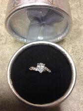 Beautiful Dainty Women's 18k White Gold Imitation Diamond Ring 5 Anytime Gift
