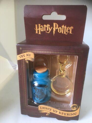 Light Up Keyring Blue NEW Harry Potter Potion Bottle Keyring