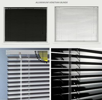 Hartig Aluminium Metal Venetian Blinds Trimable Easy Fit 25mm Slat Home Office All Size