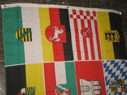 5x8 ft German Germany 16 States Flag Rough Tex Knitted 5/'x8/' Banner