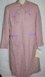 5b78f92ee13d Terry Lewis Lavender Tweed Button Down Coat Women s Size Small NWT ...