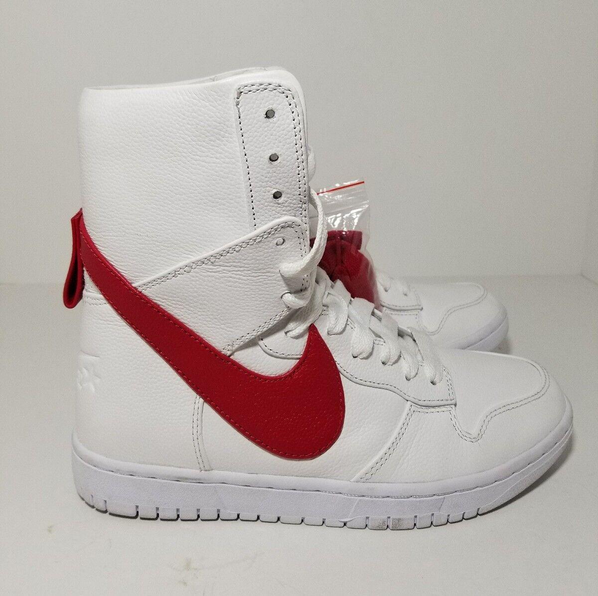 Riccardo Tisci Nike Lab Dunk Lux High White Red 841647-160 Men's Size 6.5