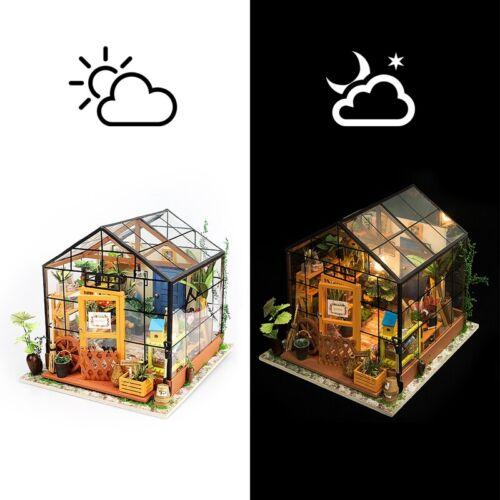 DG104 Robotime DIY Miniatur Puppenhaus Gewächshaus Holzpuzzle Modell Nr