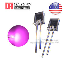 100pcs 2x5x7mm Water Clear Pink Light Rectangle Rectangular Square Led Diodes