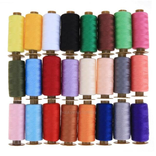 24 Roll 500 Yards Durable Hand Stitch Cotton Line Craft Embroidery Sewing Thread
