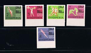 Albanien 1963 Satz 768/72 Em Boxen/fussball/volleyball Ungezahnt Postfrisch Stamps