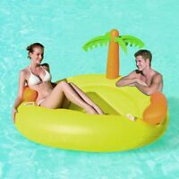 Inflatable Tropical Island Swimming Pool Lilo Lounger
