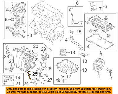hyundai oem 11-16 elantra engine-vacuum hose 283282e200   ebay 2005 hyundai elantra engine diagram  ebay