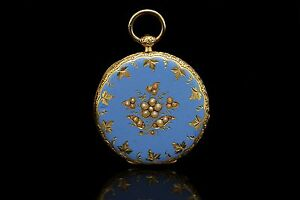 ANTIQUE ORIGINAL 14K GOLD PEARL DECORATED AMAZING VICTORIAN POCKET WATCHES