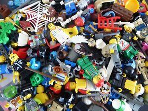 LEGO-100g-Figurenteile-Figuren-Zubehoer-Maennchen-Torso-Beine-Fuesse-Koerper-Konvolut