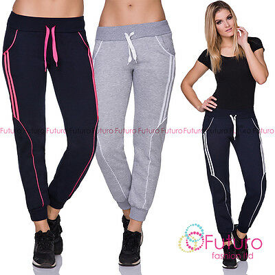 Klug Ladies Casual Sports Jogging Trousers Full Length Fitness Running Joggers Fz126