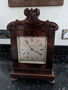 antique fusee bracket clock