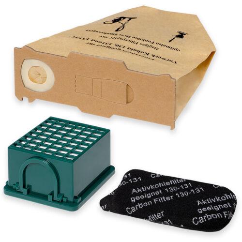 10 Sacchetti Filtro sacchetto PER ASPIRAPOLVERE FILTRO COMPATIBILE PER VORWERK FOLLETTO 131 EB 351