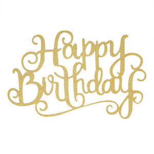 Image Is Loading Lovely Hot Happy Birthday Candle Party DIY Gold