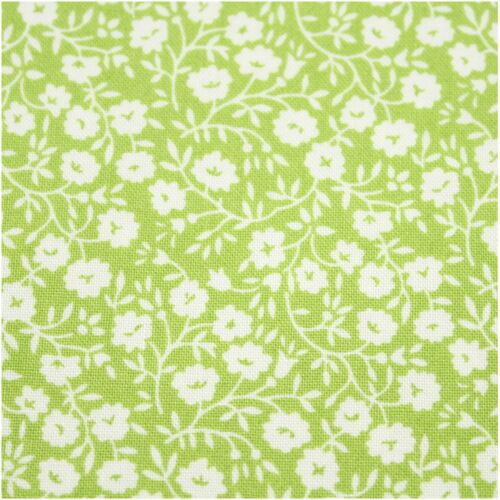 Moda Green Floral Cotton Fabric Collection Quilting Bunting Craft FQ Bundle FQ41
