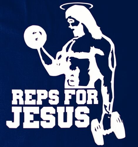 REPS FOR JESUS VEST tank top weight lifting gym fitness muscle racer training BN