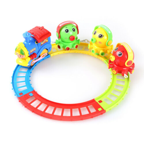 Lovely Electric Train Animal Friends Tracks Play Set Kids Toy W// Music Xmas Gift