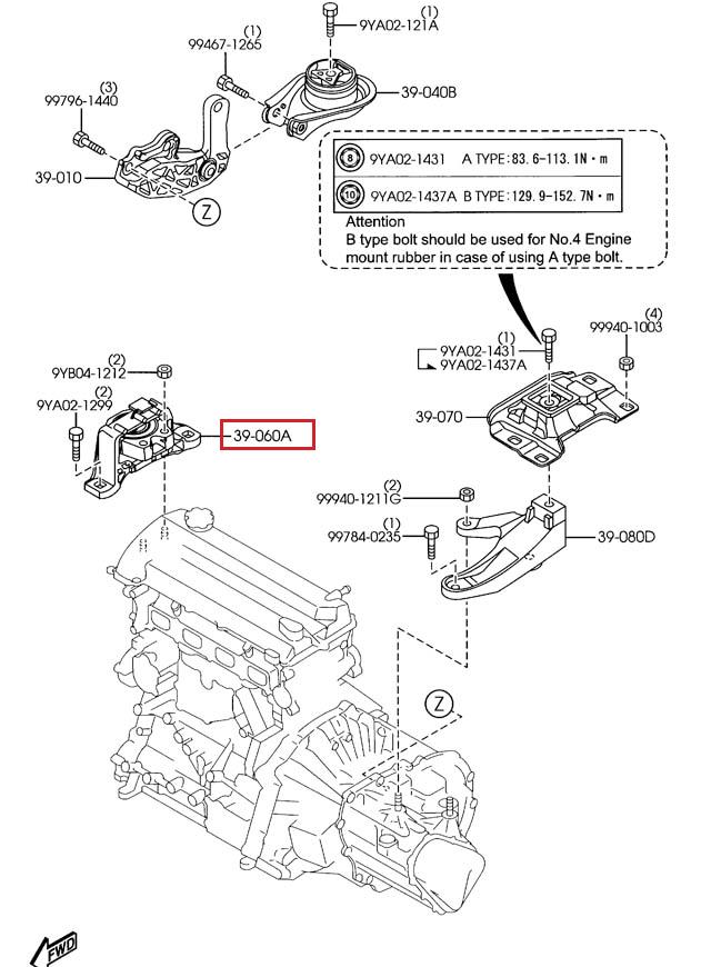 mazda 3 2004 2011 2 2 5 oem right side passenger engine mount bbm 2004 Mazda 6 Motor Mounts norton secured powered by verisign